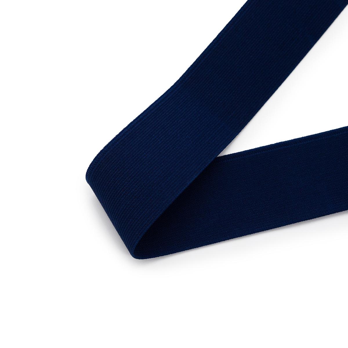 15-3850/9882 Резинка вязаная 40мм*25м т.синий