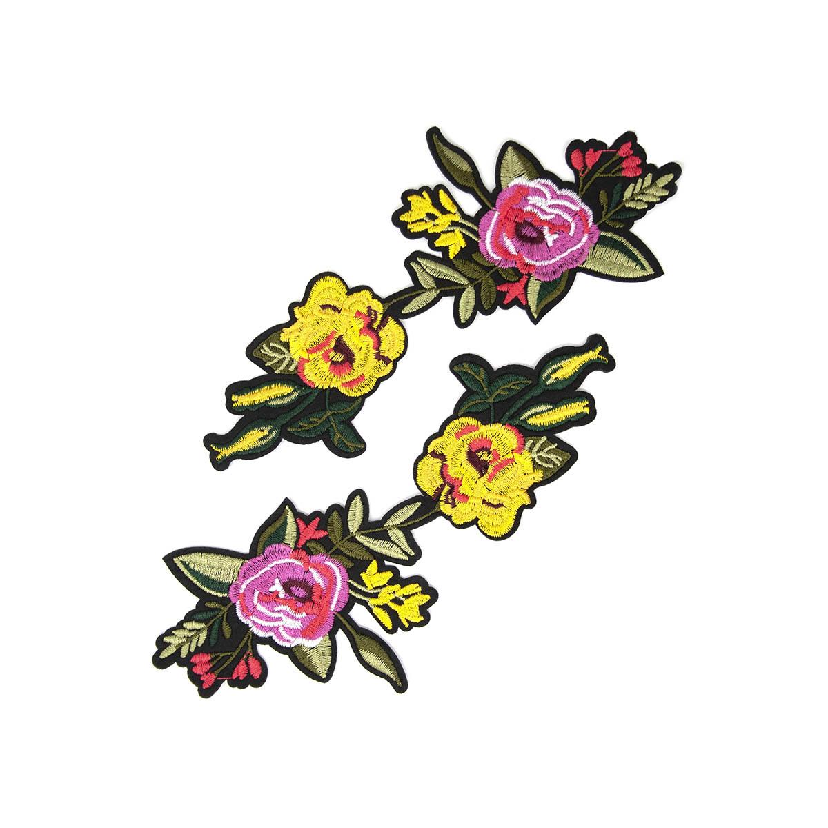 ГФ613 Термоаппликация Цветы 19,5*9см