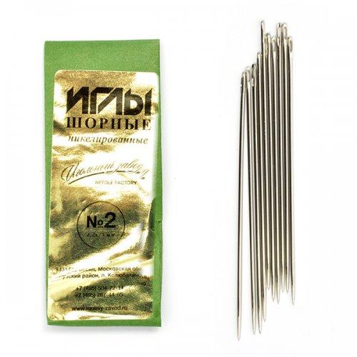 ИЗ-200116 Иглы швейные ручные шорные никелированные № 10 (1,25*63 мм),10шт