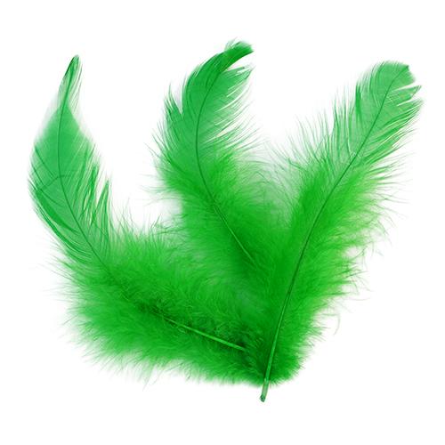 HY18050038 Перья Зеленые 8 см, 20 шт