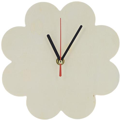 SCB350153 Деревянная заготовка Часы-ромашка (с часовым механизмом) диаметр-20см