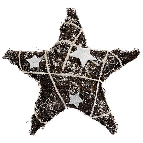 SCB370217 Декоративная звездочка, глиттер и мини звезды, 25см