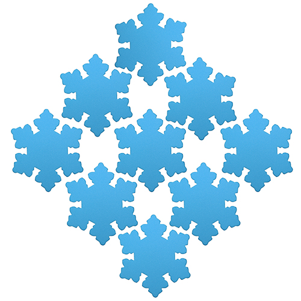 25-3 Заготовка из фоамирана 'Снежинка', 7х7 см, 10шт