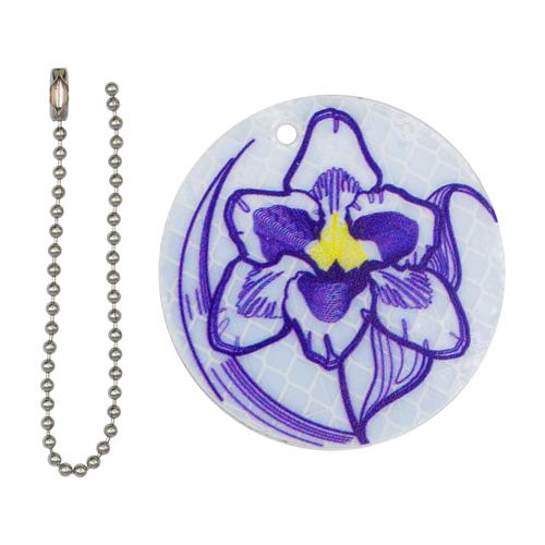 Световозвращатель подвеска пластик 'Фиолетовый цветок'