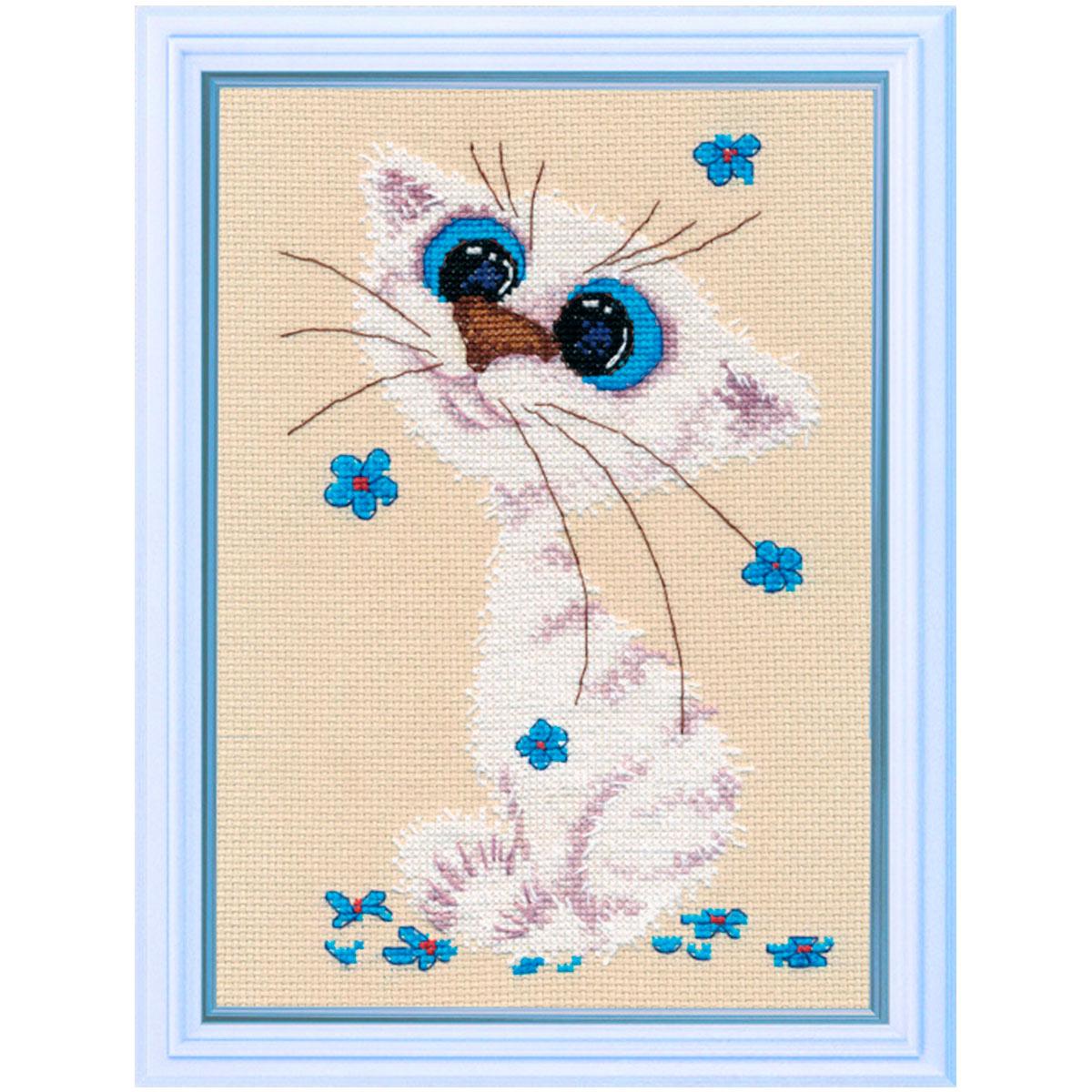 1020 Набор для вышивания ОВЕН 'Кошка-Крошка' 12*18см