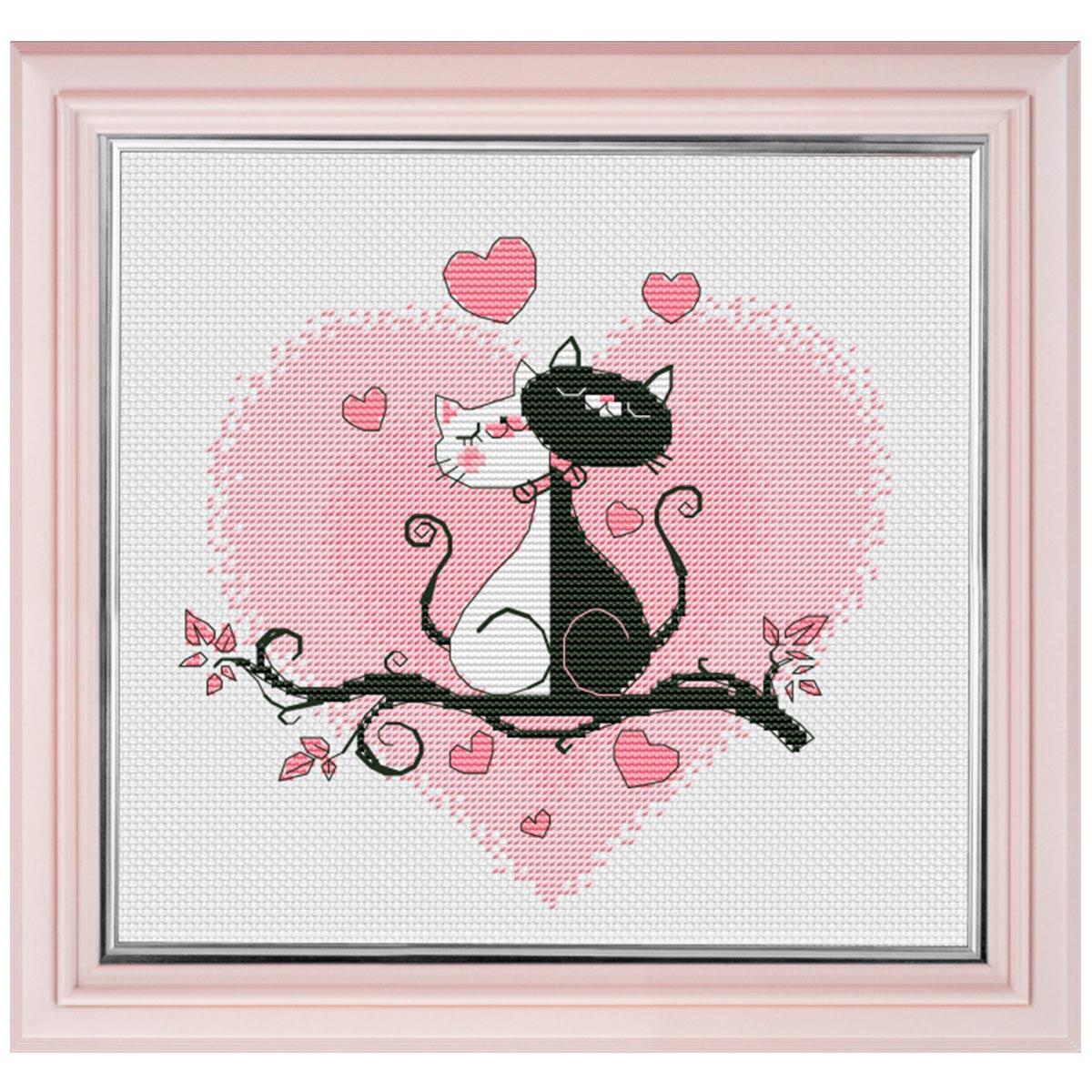 1021 Набор для вышивания ОВЕН 'Это любовь' 16*15см