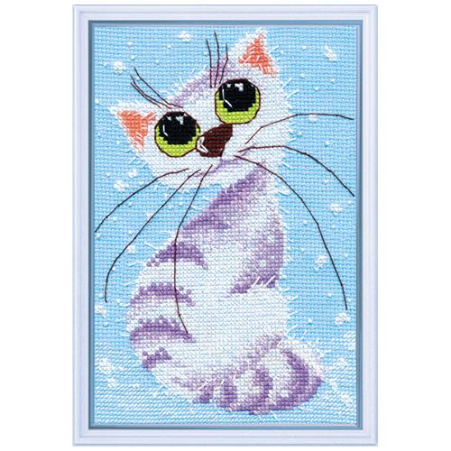1026 Набор для вышивания ОВЕН 'Кошка-крошка-2' 12*18см
