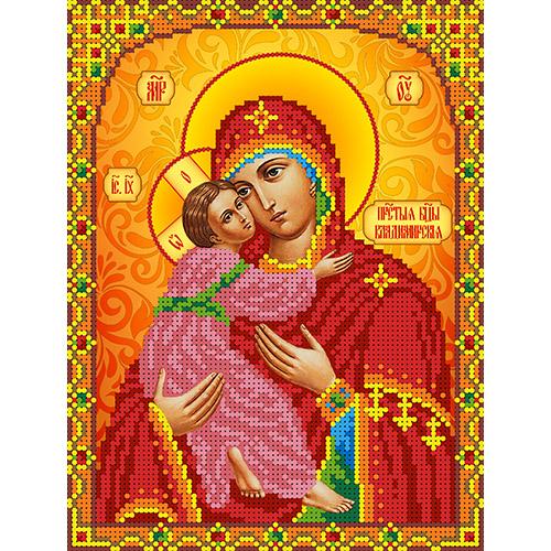 КБИ-4102 Канва с рисунком для бисера Икона 'Владимирская' А4