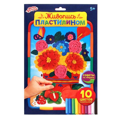 1205877 Живопись пластилином 'Лето'+ пластилин 10 цветов по 10 гр
