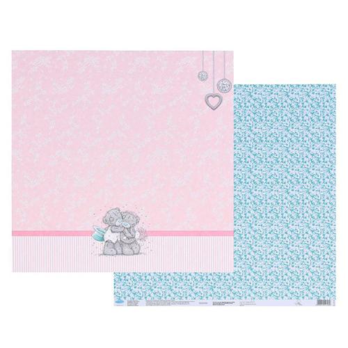 1445746 Бумага для скрапбукинга 'Нежные обьятья', 30.5 x30.5 см, 180 г/м?