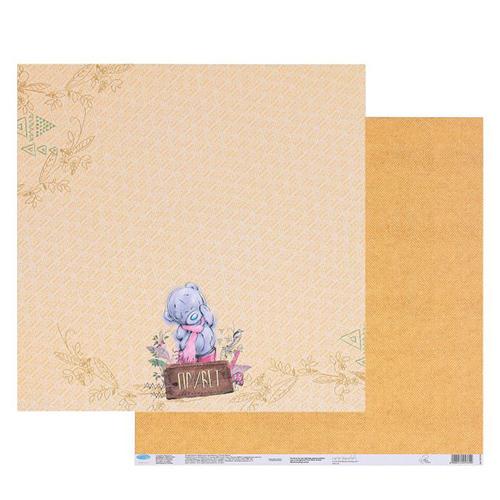 1445769 Бумага для скрапбукинга 'Привет', 30.5 x 30.5 см, 180 г/м?