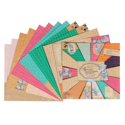 1445780 Набор бумаги для скрапбукинга Me to you 'Просто маленький привет', 12 листов, 30.5 x 30.5 см, 180 г/м²