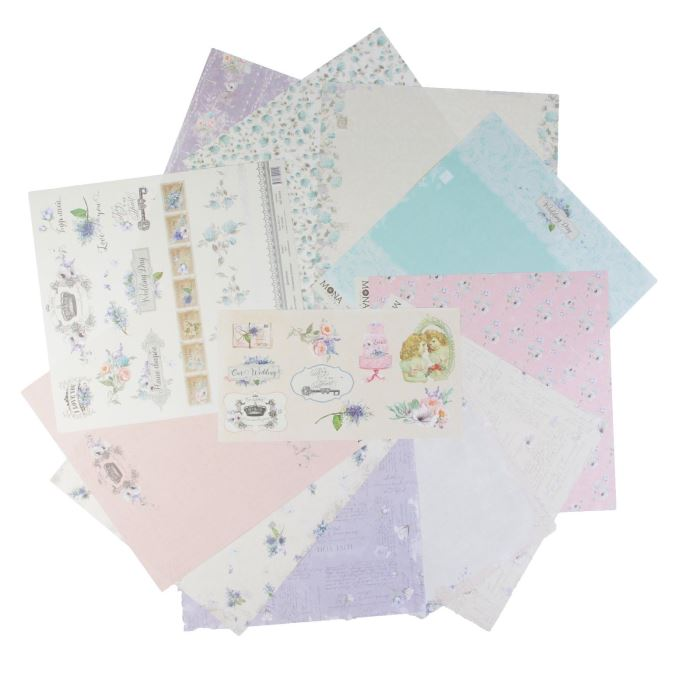 2720693 (92461) Набор бумаги для скрапбукинга 'Свадебная история' 10 листов 30,5х3,5 см плотность 190гр/м2