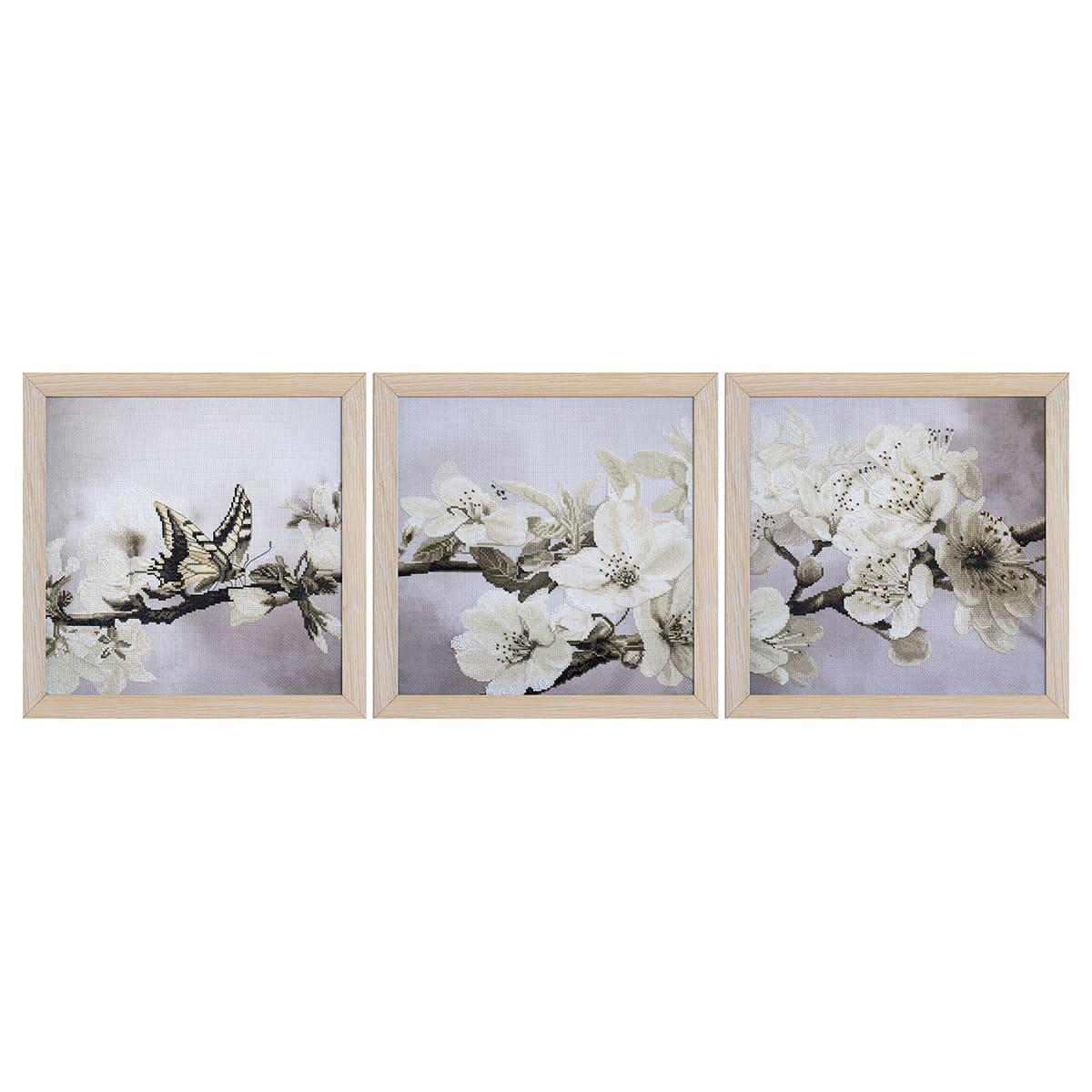 ННК6502 Набор для вышивания 'Цветущий сад ' 3 части 30x30 см