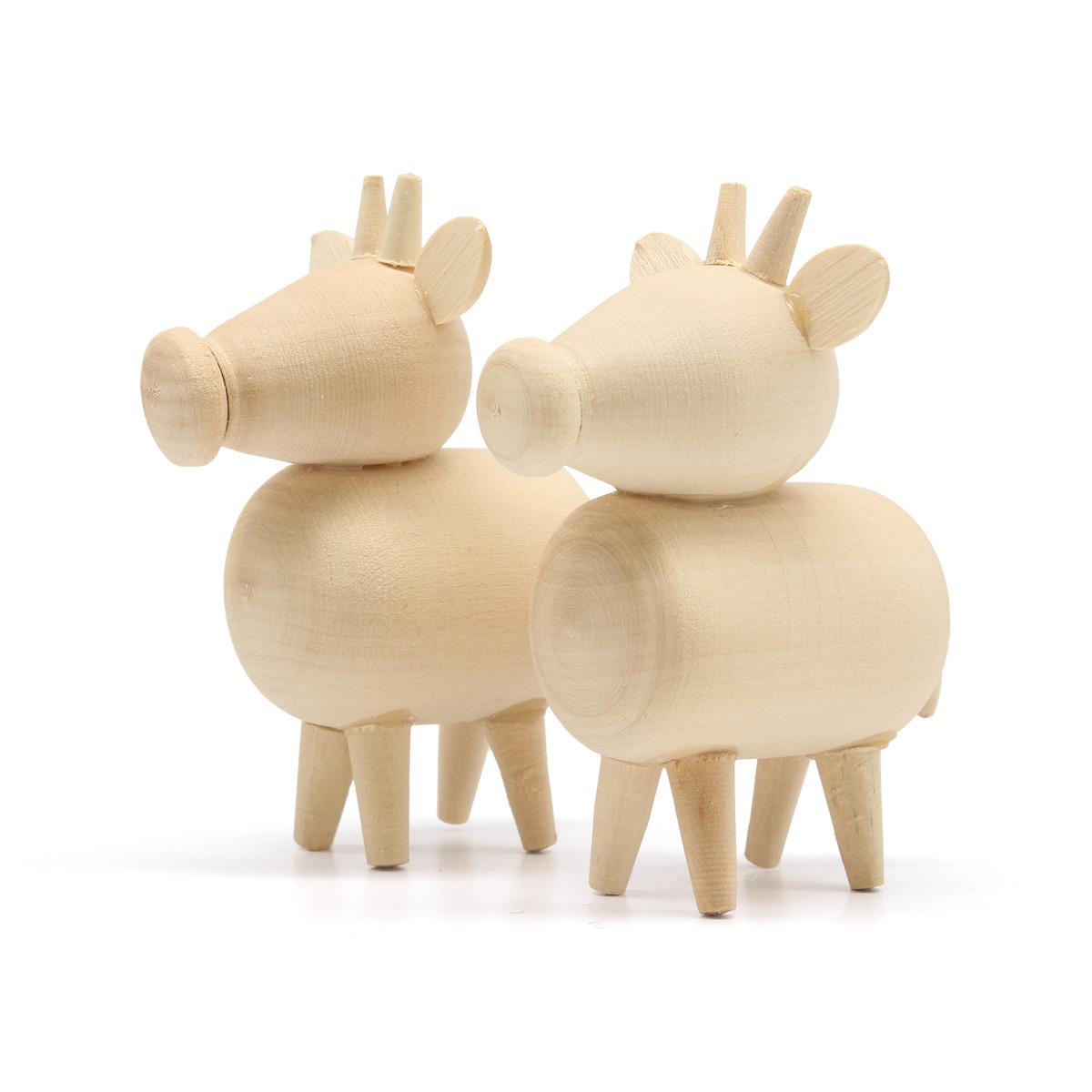 Деревянная заготовка Фигурки животных Корова