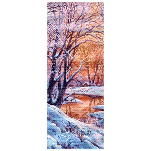 1363 Канва с рисунком Матренин посад 'Зимний вечер' 30*80см.(40*90см)