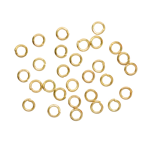 Кольцо для бус 4мм, 30шт/упак (ВА-00018147 золото)