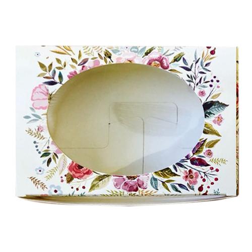Декоративная упаковка 'Полевые цветы' (коробочка с окошком) 15,5*11*4см