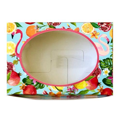 Декоративная упаковка 'Тропики' (коробочка с окошком) 15,5*11*4см