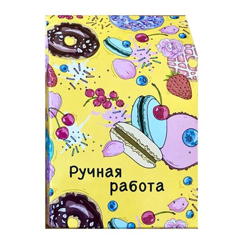 Декоративная упаковка 'Пончики' (коробочка вертикальная) 17,5*11*5см