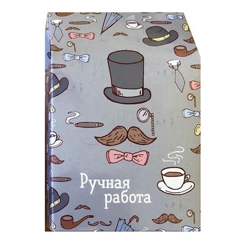 Декоративная упаковка 'Шляпы и сигары' (коробочка вертикальная) 17,5*11*5см