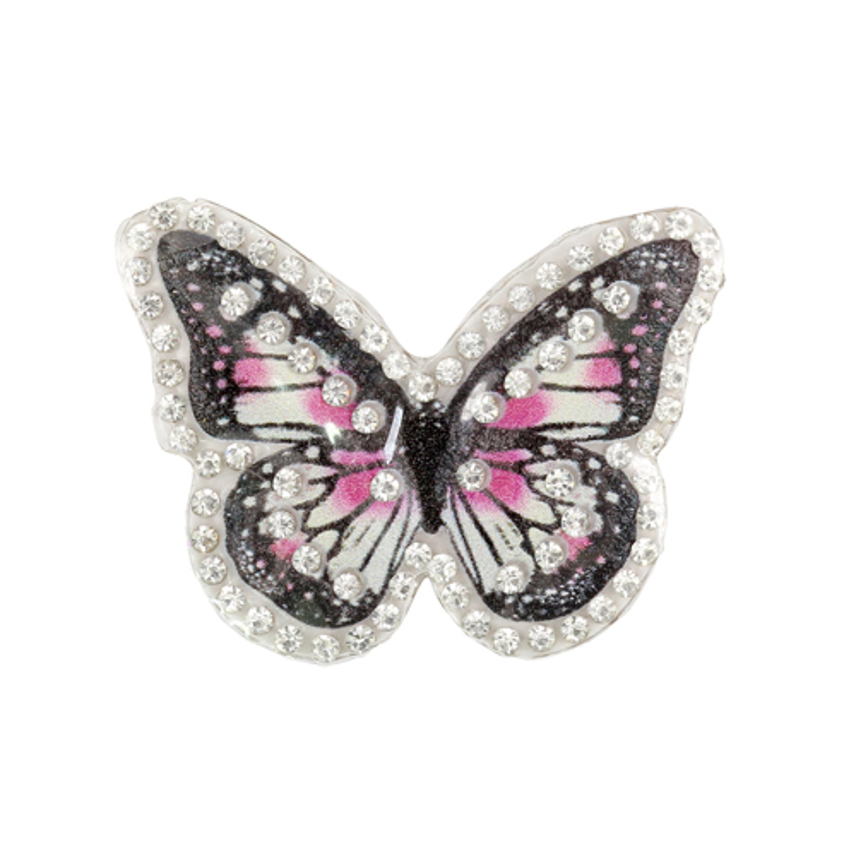 ГУ14234 Термоаппликация Бабочка 50*37мм, черно-розовая