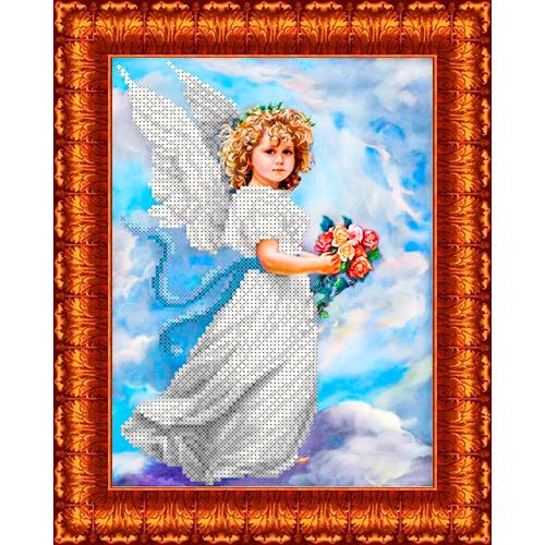 КБА-4013 Канва с рисунком для бисера 'Ангел в облаках' А4