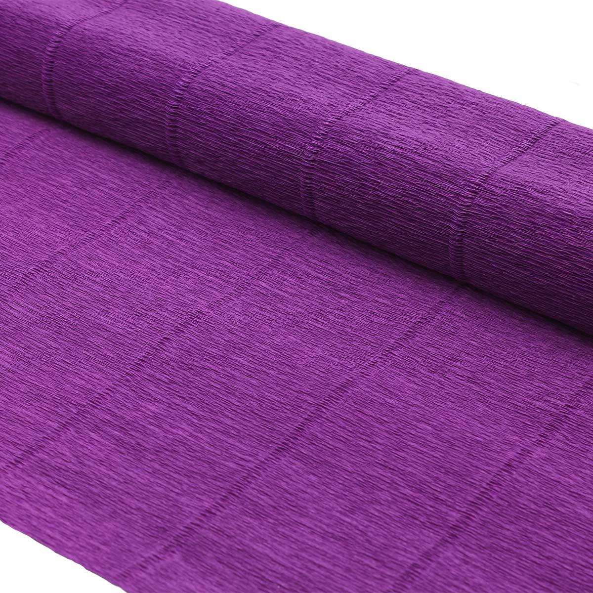 87530845 Бумага гофрированная простая, 50см*2,5м 140гр 993 фиолетовая