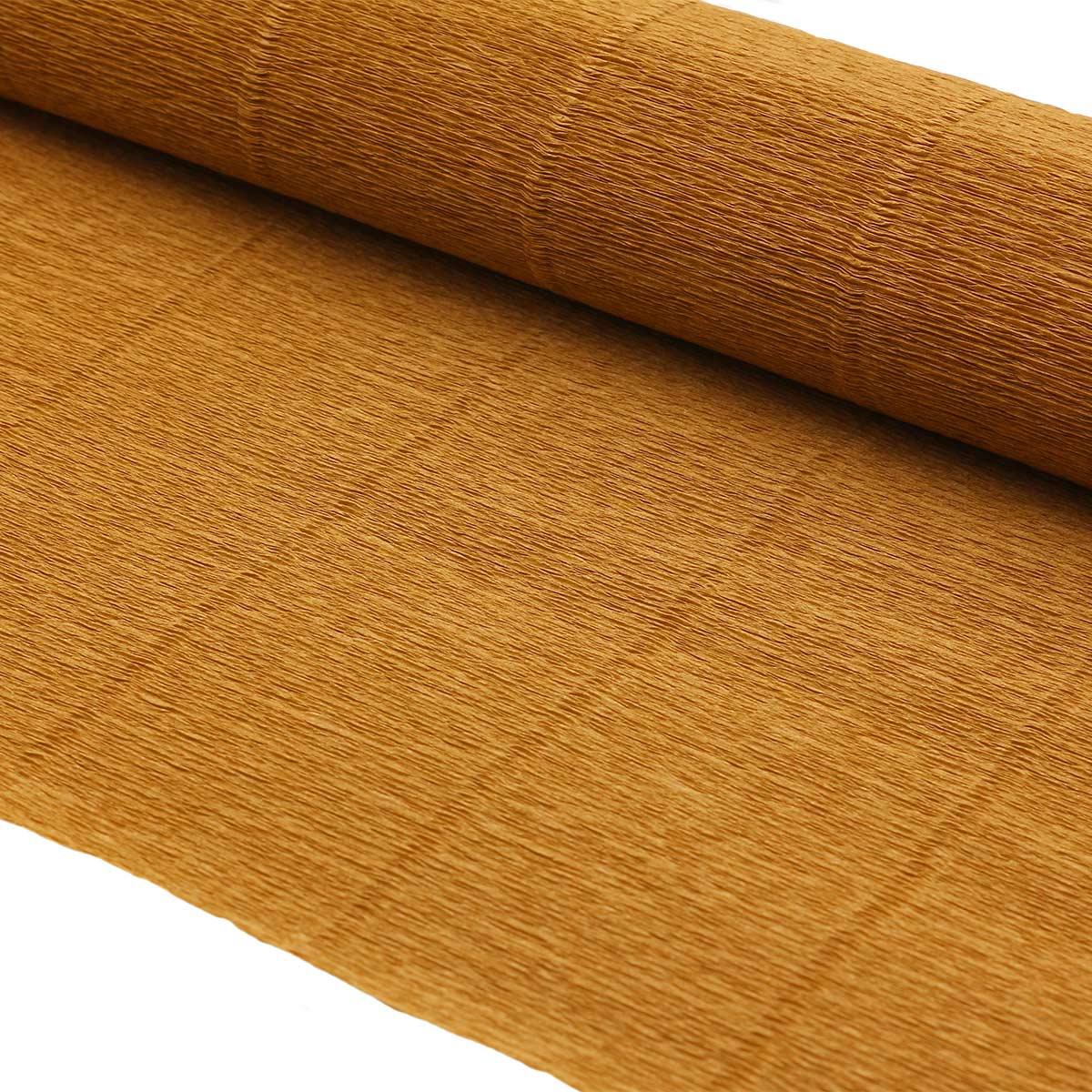 87550640 Бумага гофрированная простая, 50см*2,5м 140гр 967 светло-коричневая