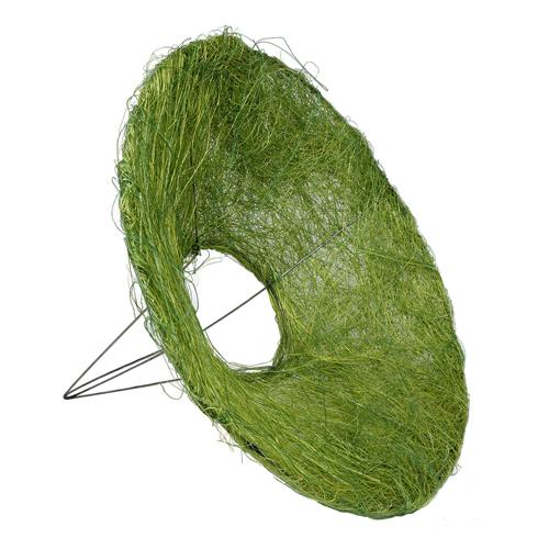 129833280 Каркас для букета сизаль гладкий 25см зелёный