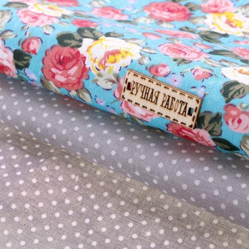 1872421 Набор ткани пэчворк 'Цветочное великолепие' 50 х 50 см