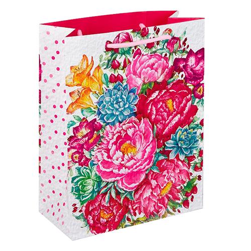 2634286 Пакет ламинат вертикальный 'Прекрасные цветы', L 40 х 31 х 9 см