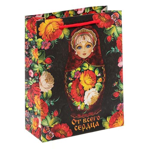1640869 Пакет ламинат вертикальный 'Русский подарок', MS 18 х 23 х 8 см