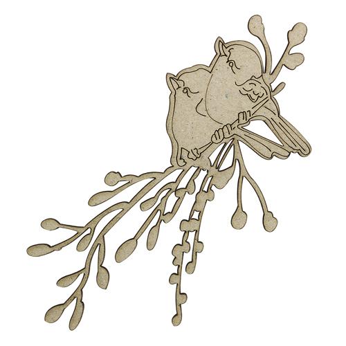 ВК-78 декоративный элемент 'Птицы на ветке' 6*11см Астра