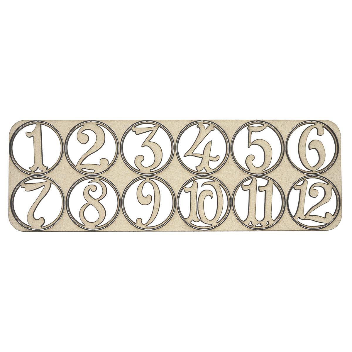 ВК-86 декоративный элемент 'Цифры 1-12' 15,5*5см Астра