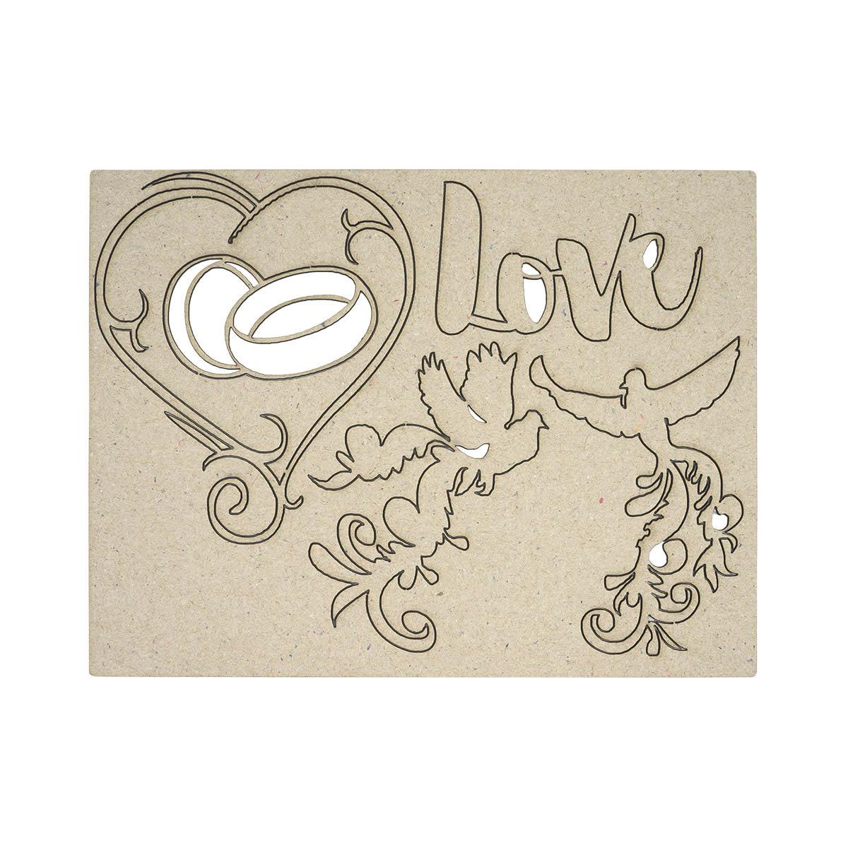 ВК-90 декоративный элемент 'Love' 9,5*12,5см Астра