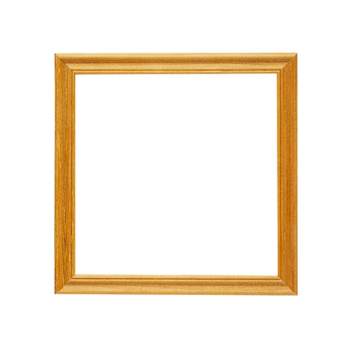 3N66 Рамка деревянная со стеклом 15*15, цв.клён