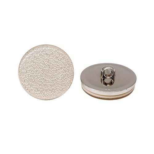 ВАСР18 Пуговица 30мм на ножке, перламутр/никель (123