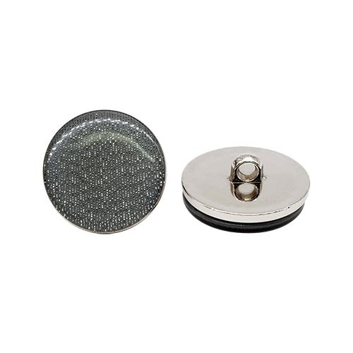 ВАСР18 Пуговица 30мм на ножке, перламутр/никель (578