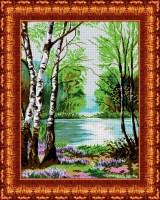 КБП-2007 Канва с рисунком для бисера 'У реки' А2