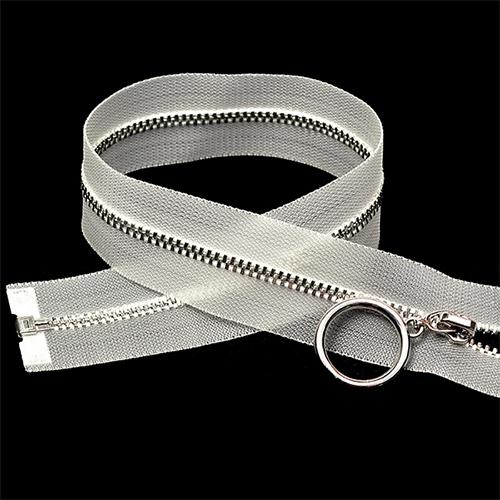 NIC3.70.PER Молния металл-никель, прозр.тесьма, разъемная Т3 70 см