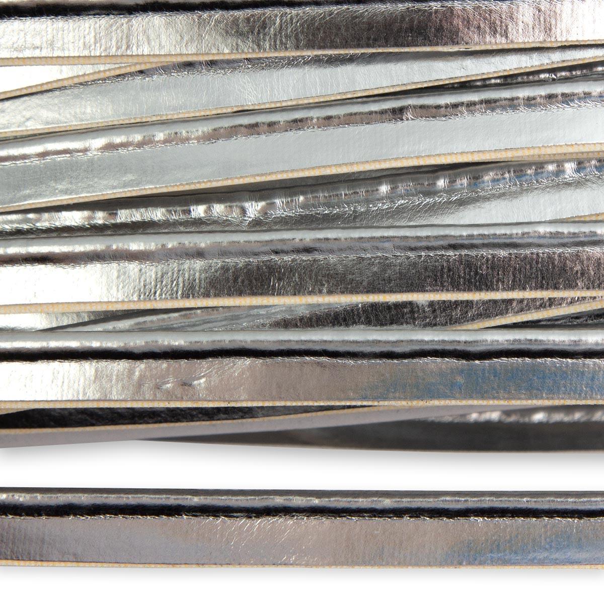 ГСФ1242 Кант кож/зам 10мм*45,7м, серебро
