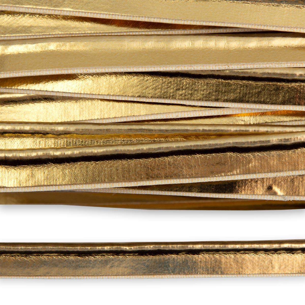 ГСФ1243 Кант кож/зам 10мм*45,7м, золото