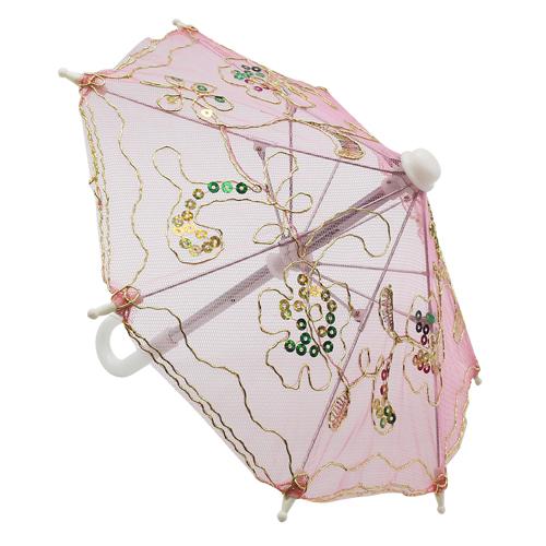 248040558 Аксессуар для декора Зонтик H20,5 D27 розовый