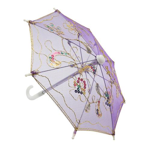 248042750 Аксессуар для декора Зонтик H20,5 D27 фиолетовый