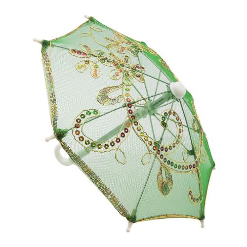 248040949 Аксессуар для декора Зонтик H20,5 D27 зеленый