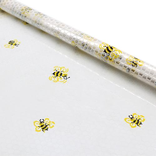61487 Пленка цветная Пчёлы с сотами 70см желтый