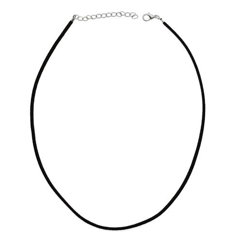 1353535 Шнурок 43 см + удлинитель, замша, чёрный