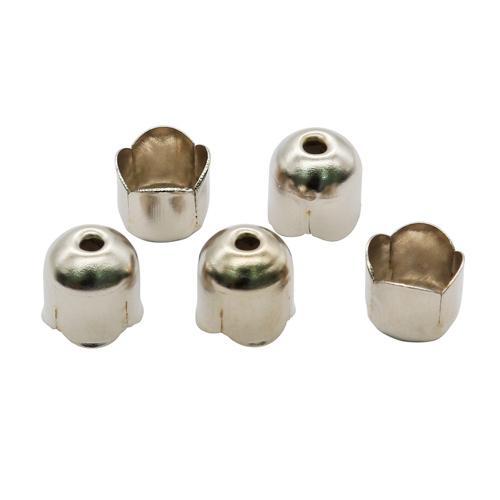 1353627 (СМ-305-4) Концевик для шнура, 7мм, серебро, 20шт/упак