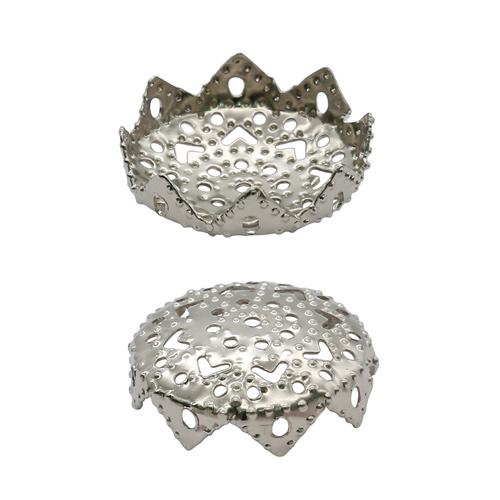 1514817 (СМ-037) Шапочки для бусин, серебро, 50шт/упак